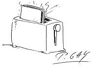 Illustration Buechertoaster von P. Gay
